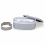 Marmita Plástica 2 Compartimentos + Talheres Brindes Personalizados