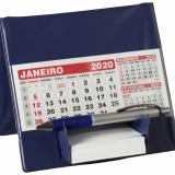 Calendários  Calendário de Mesa com Suporte p/ Rascunho 49L Brindes Promocionais