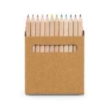 Caixa de cartão com 12 mini lápis de cor Brindes Promocionais