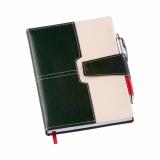 Agenda Executiva Verde c/ Fecho de Imã e Sup. p/ Caneta 196L Brindes Personalizados