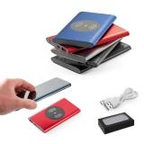 CASSINI. Bateria portátil e carregador wireless - Brindes Personalizados