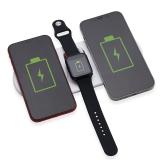 Base Dual Indução para Celulares e Iwatch - Brindes Promocionais