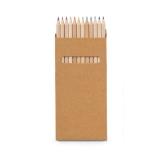 Caixa de cartão com 12 lápis de cor Bindes Personalizados