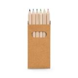 Caixa de cartão com 6 mini lápis de cor Brindes Promocionais