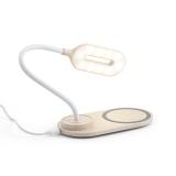 LEZZO. Luminária de mesa com carregador wireless Brindes Promocionais