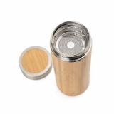 Garrafa em Bambu e Aço Inox Brindes Promocionais